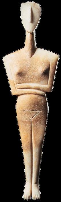 Cycladic Statue of female. NeoHel Learn Greek the smart way